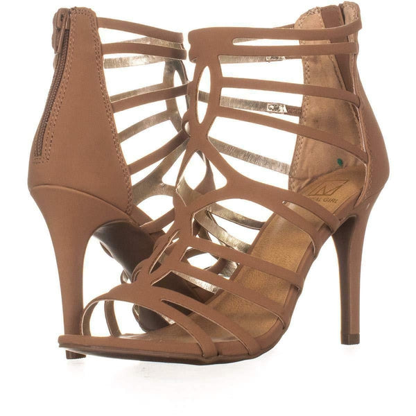 Material Girl Pixie Caged Sandals Tan