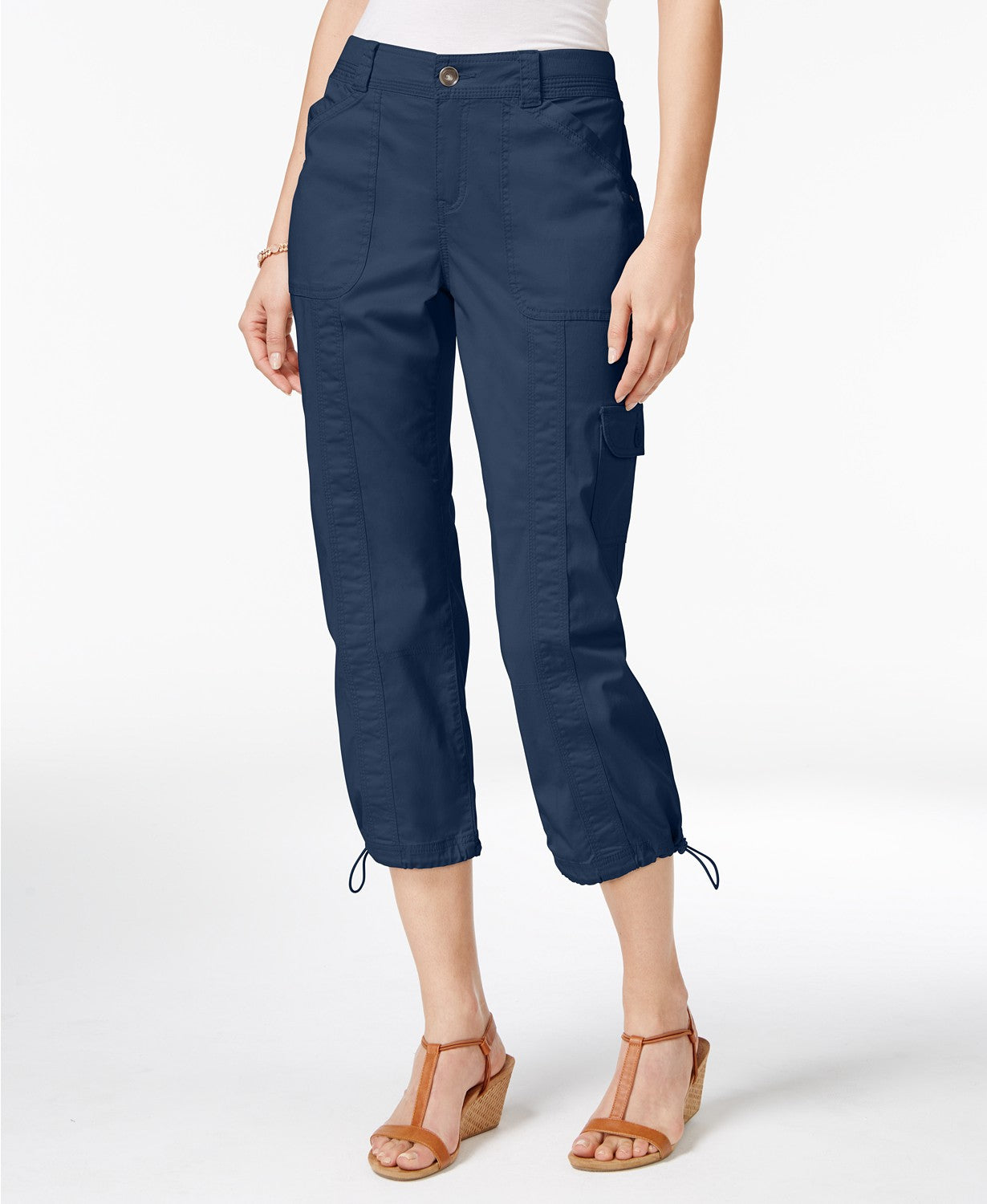 Style & Co Snap-Button Capri Pants