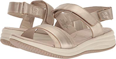 Easy Spirit Womens Draco Sandals, Gold