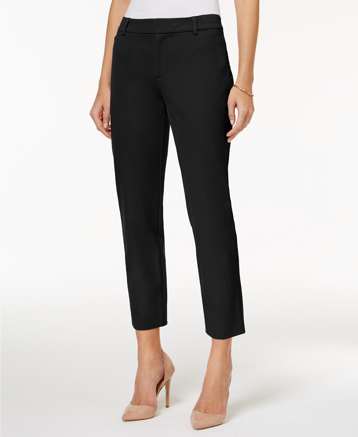 Charter Club Petite Newport Tummy-Control Cropped Pants