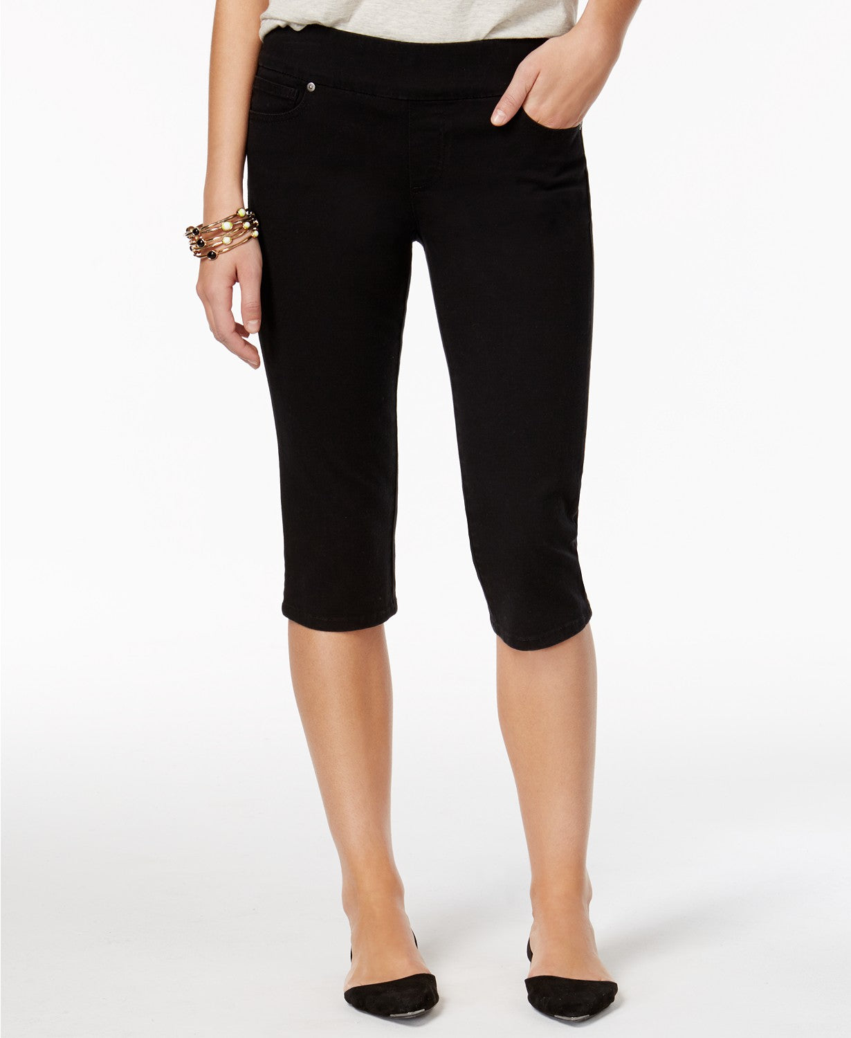 Style & Co Petite Avery Pull-On Skimmer Jeans