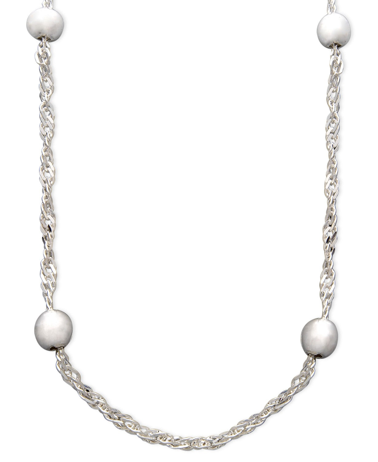 Giani Bernini Sterling Silver Necklace, 18 Inch Bead Chain