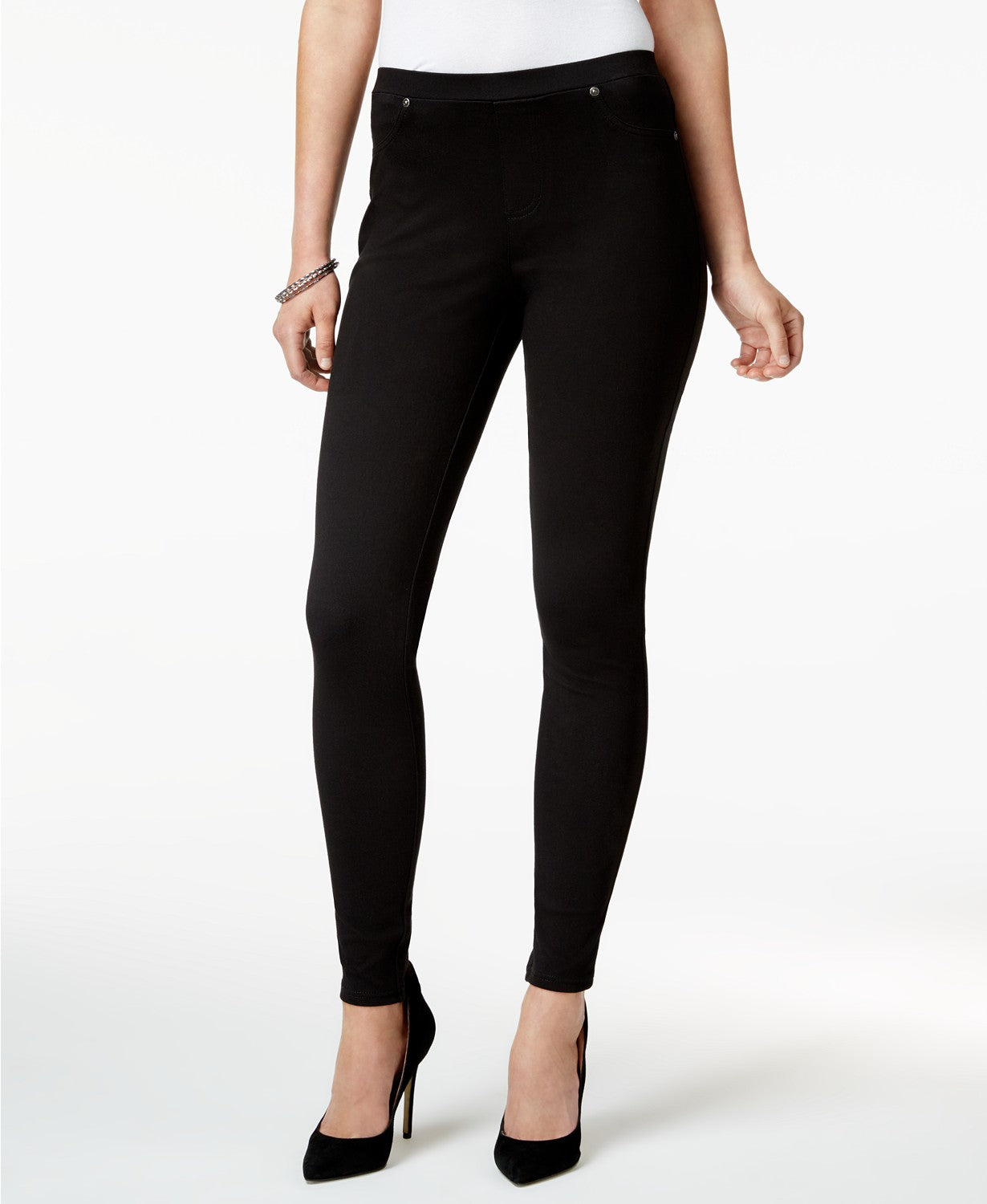 Style & Co Petite Twill Pull-on Leggings