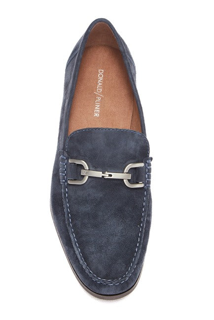 Donald Pliner Niles 3 Washed Suede Bit Loafer