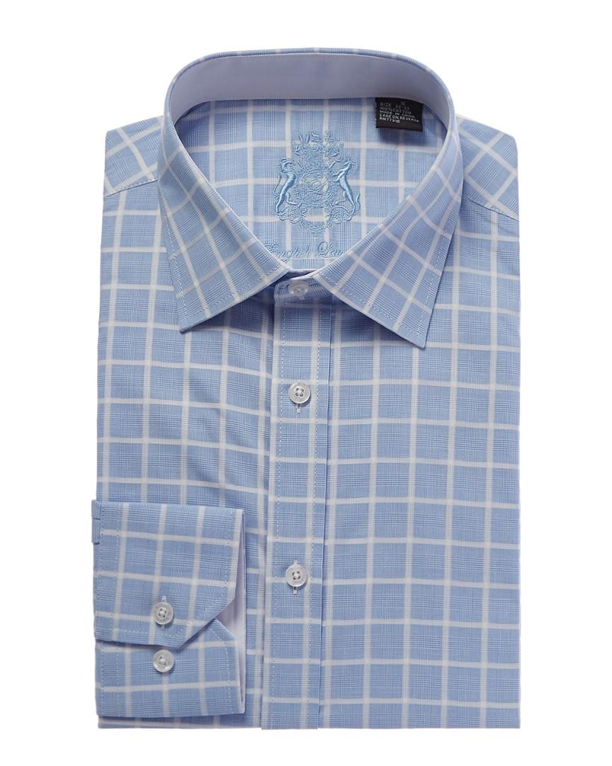 English Laundry Classic-Fit Checkered Dress Shirt