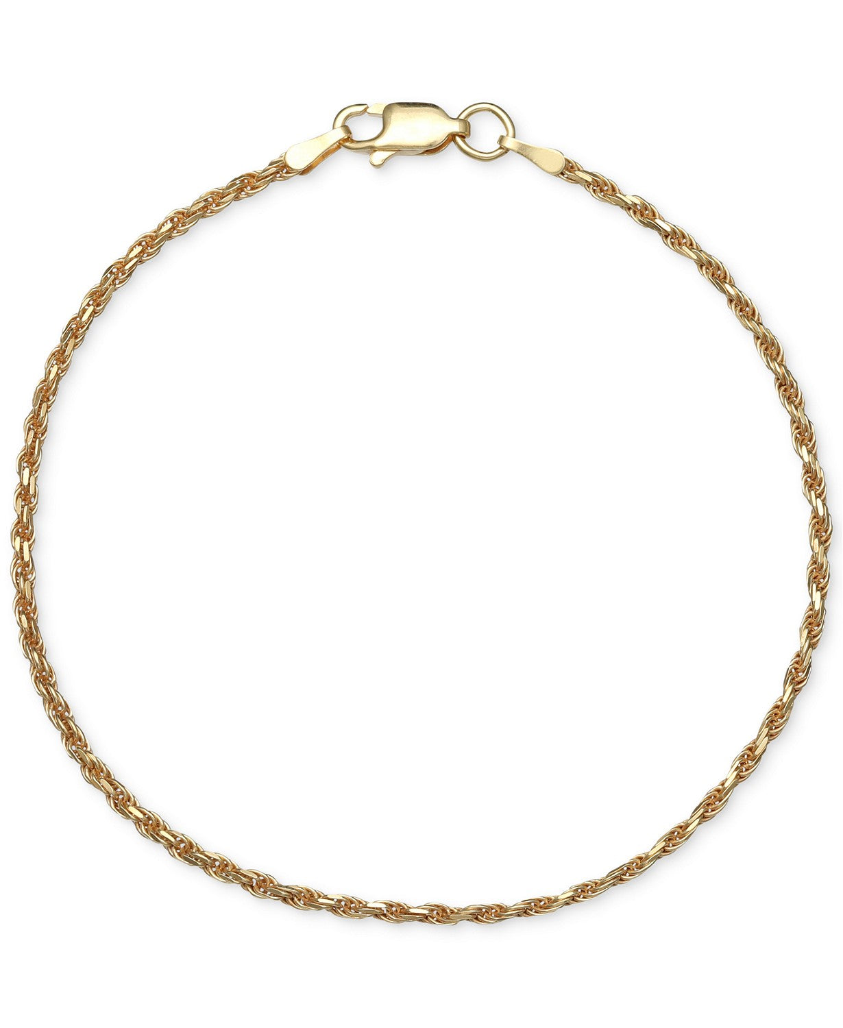 Giani Bernini Rope Chain Bracelet in 18k Gold-Plated Sterling Silver
