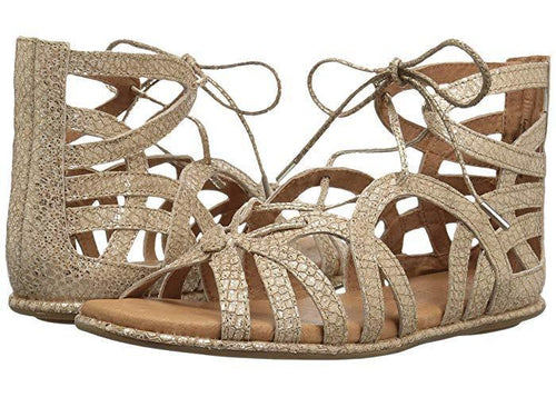 Gentle Souls by Kenneth Cole - Break My Heart Snake Embossed Lace Up Sandals