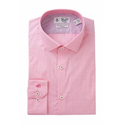 Penguin Tonal Diamond Print Slim Fit Shirt