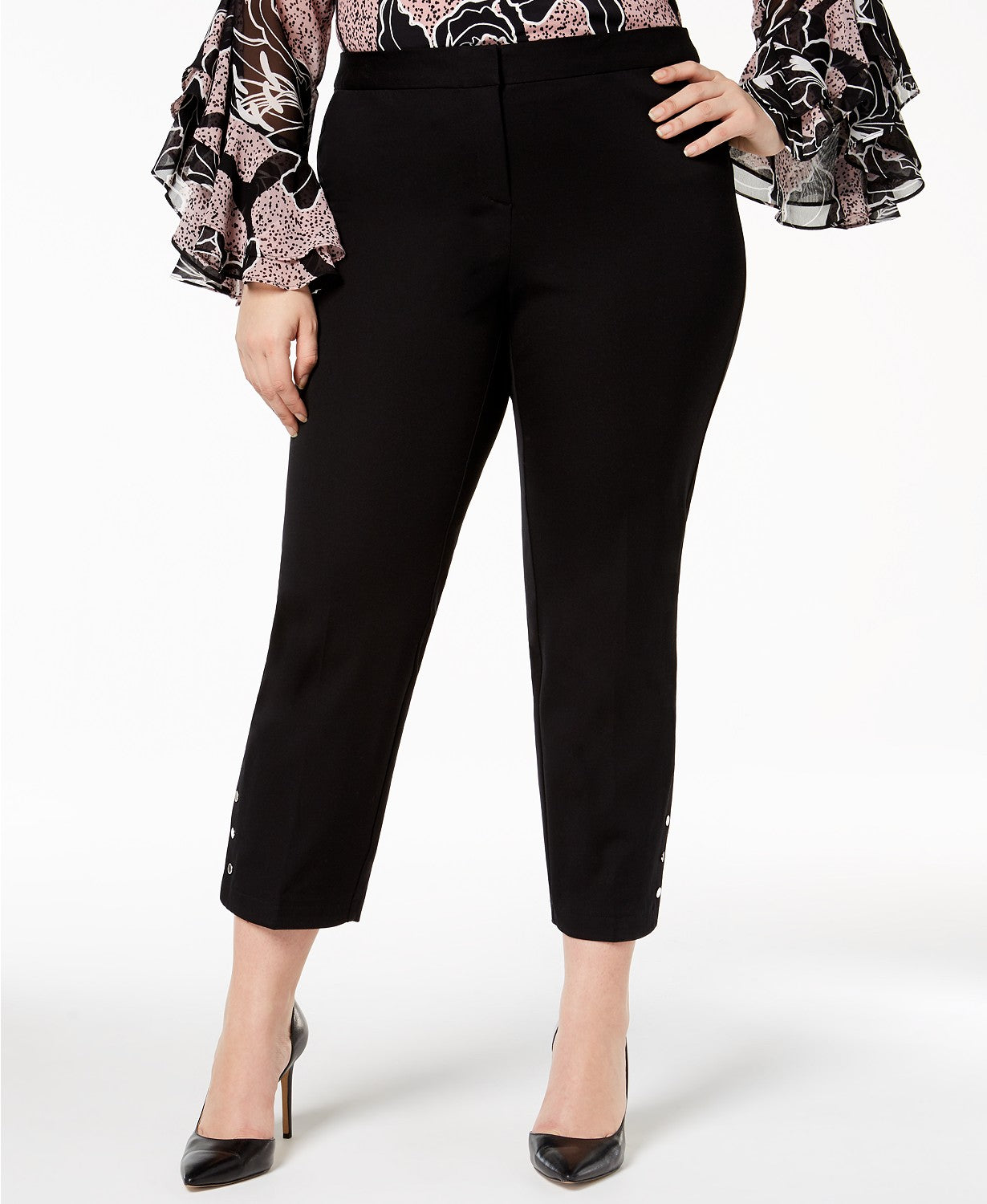 Alfani Plus Size Studded Ankle Pants