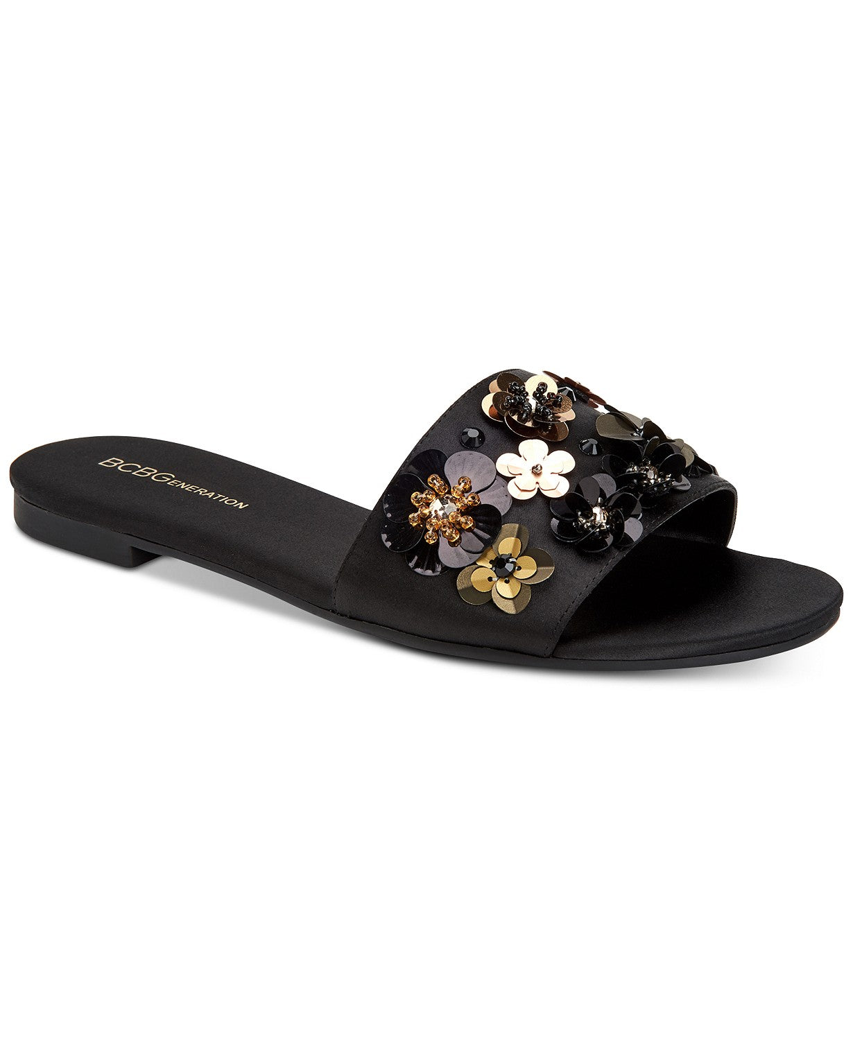 BCBGeneration Garnet Embellished Flat Slide Sandals