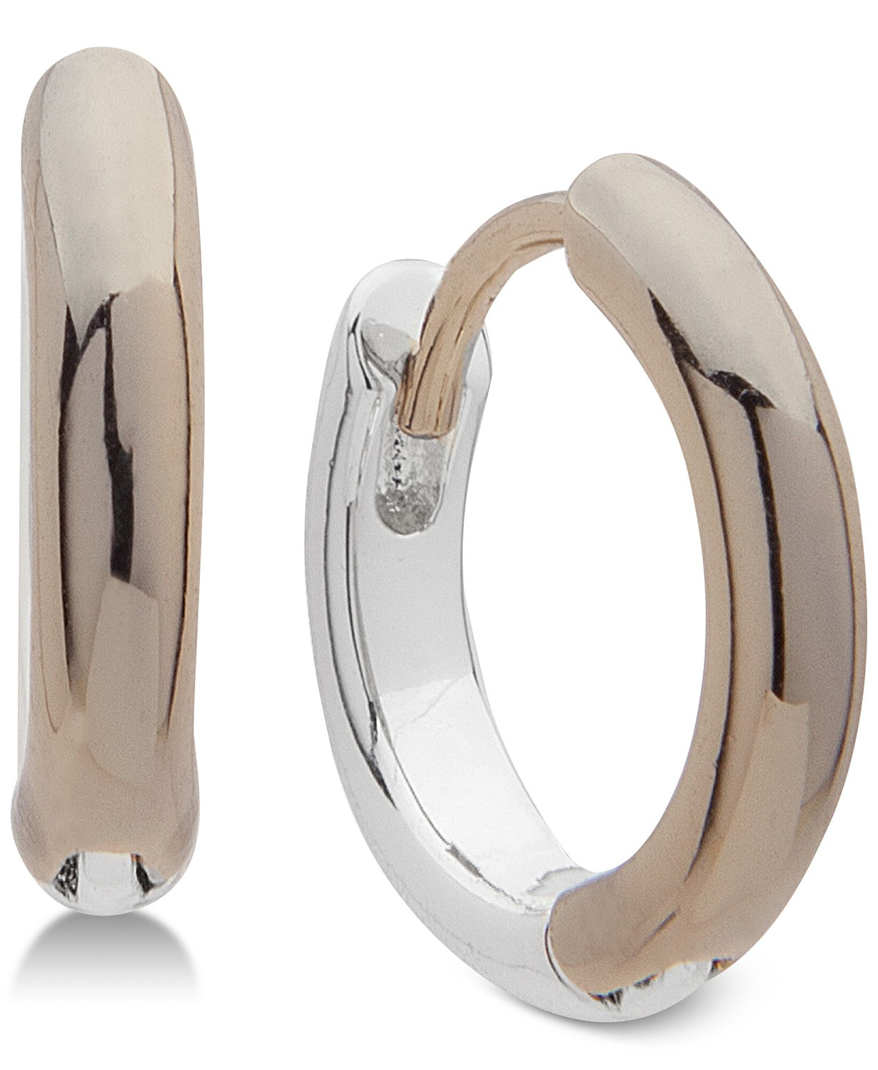 Lauren Ralph Lauren Two-Tone Huggie Small Hoop Earrings