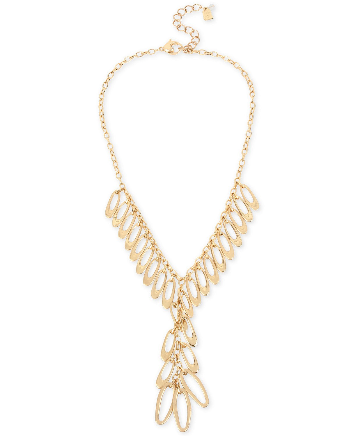 "Robert Lee Morris Soho Gold-Tone Shaky Link Lariat Necklace, 17-1/2"" + 3"" extender"