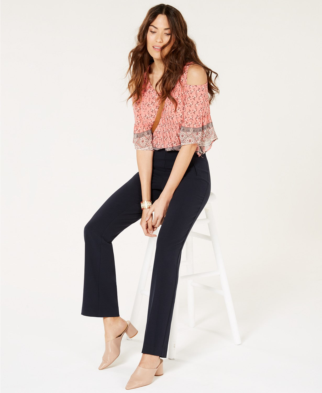 Style & Co Petite Tummy-Control Straight-Leg Pants