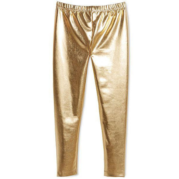 Epic Threads Big Girls Faux Leather Legging Gold