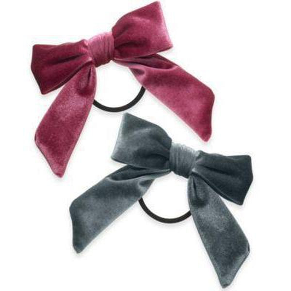 INC International Concepts 2-Pc. Set Velvet Bow Ponytail Multi