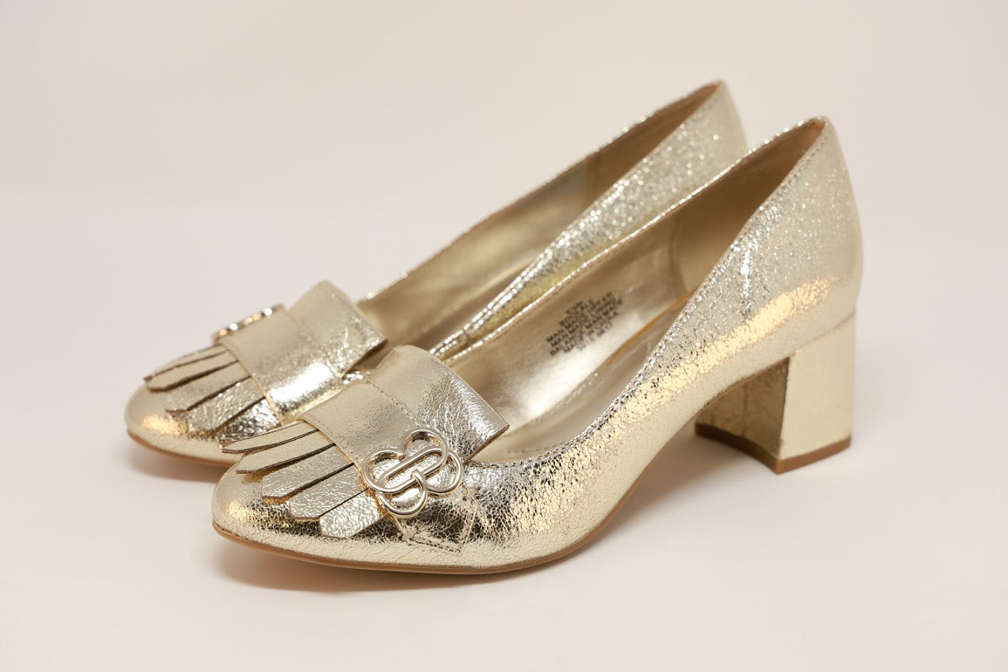 Bandolino Olale Block-Heel Pumps Gold