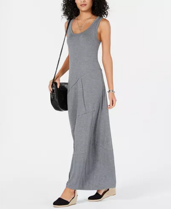 Style & Co Sleeveless Asymmetrical-Seam Maxi Dress