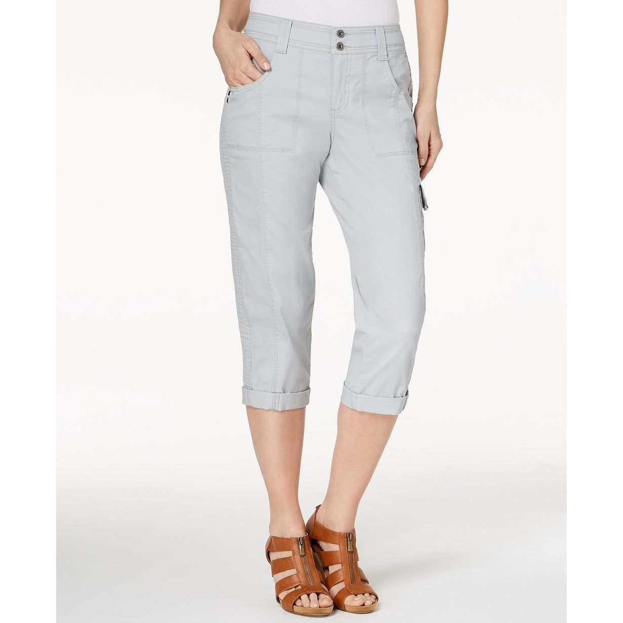 Style & Co Cropped Cargo Pants - Misty Harbor