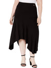 NY Collection Womens Plus Handkerchief Hem Midi Midi Skirt
