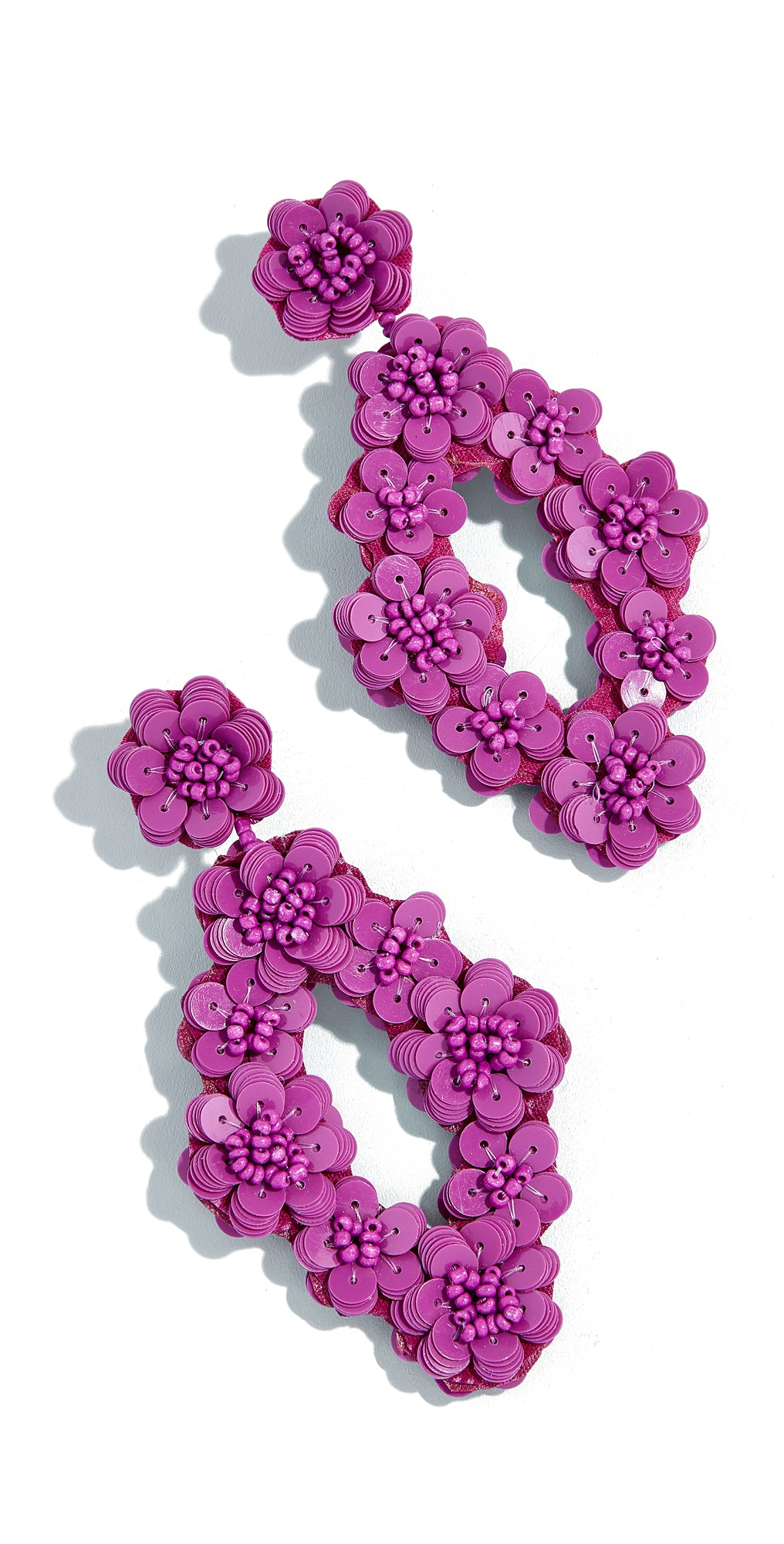 BAUBLEBAR Tulipa Beaded Floral Drop Earrings In Magenta