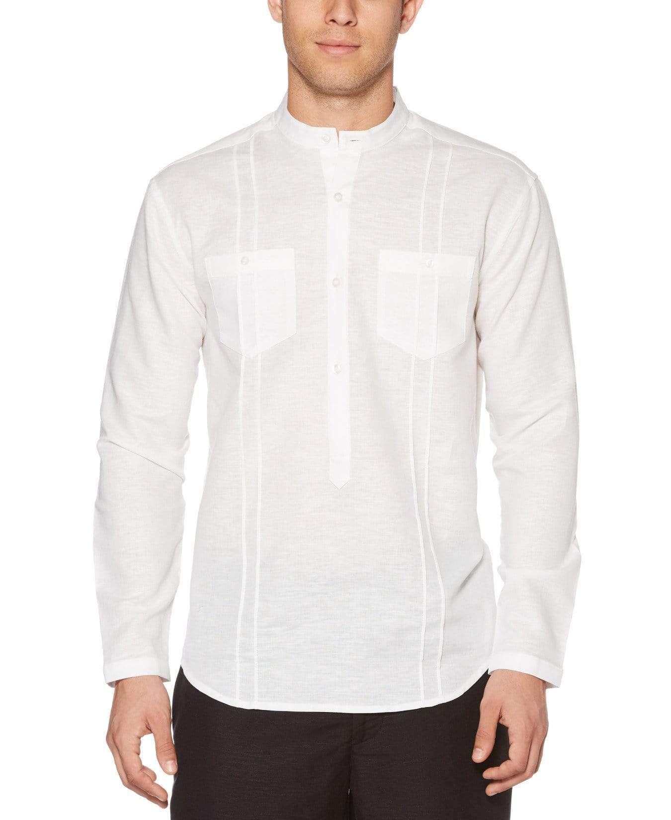 Perry Ellis Havanera Two-Pcket Popover Shirt