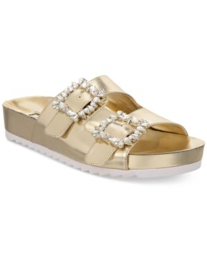 INC International Concepts Womens Alani Footbed Sandals