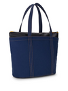 STEVEN ALAN Grid Zippered Tote In Navy