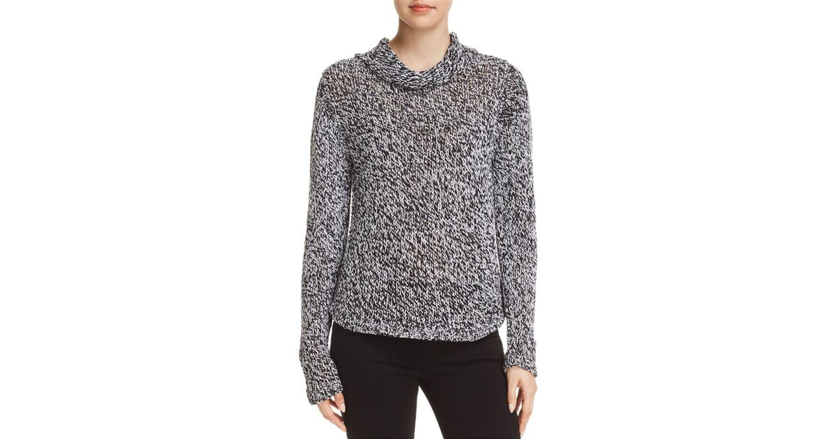 Eileen Fisher Women's Marled Knit Oversized Funnel Neck Sweater