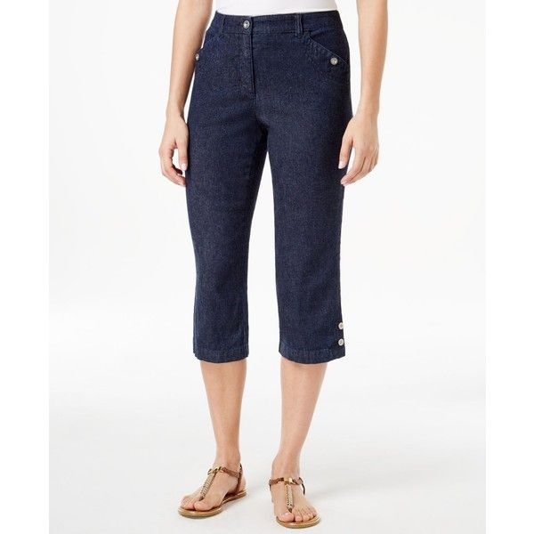 Karen Scott Petite Denim Capri Pants