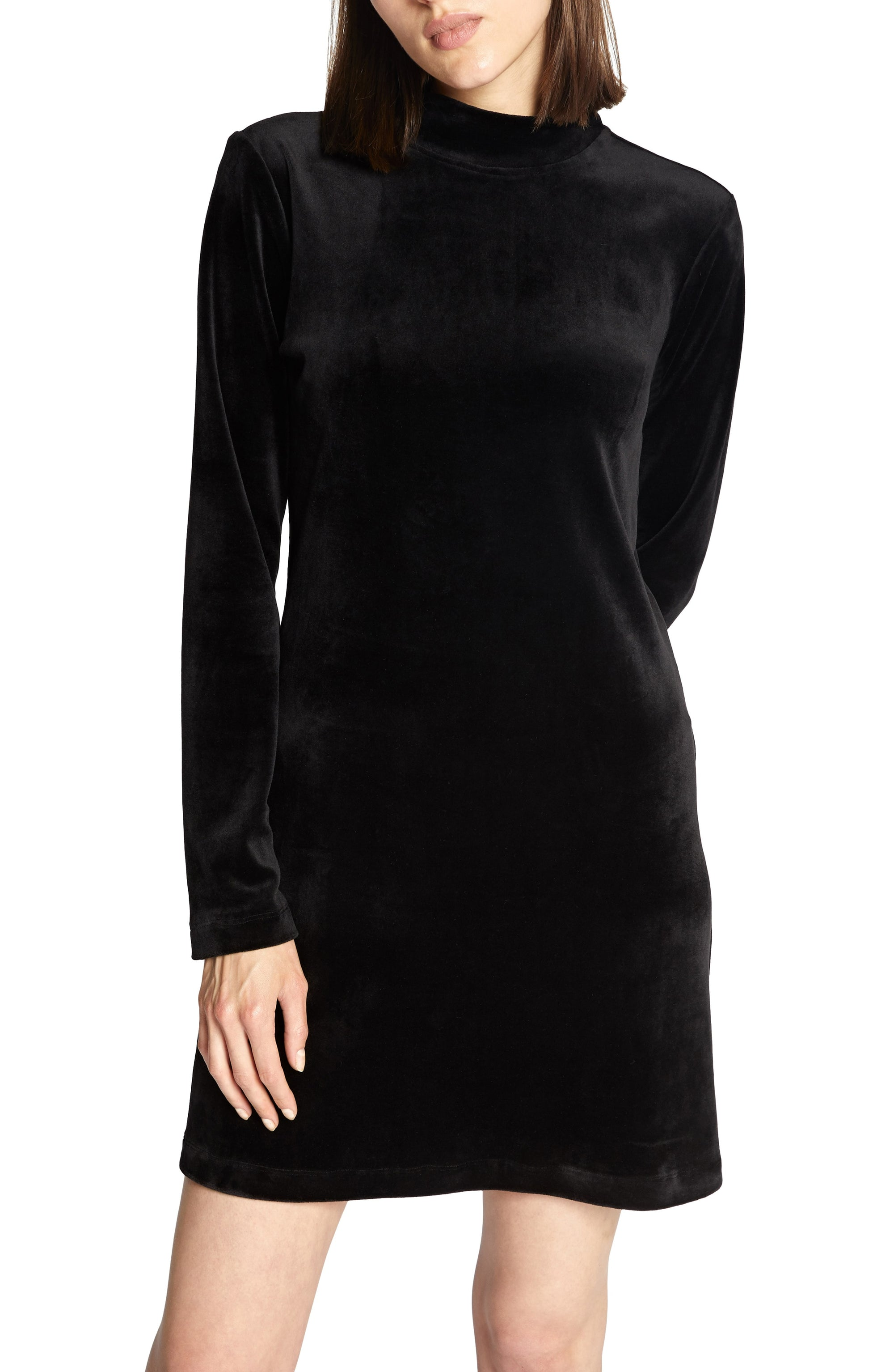 Sanctuary Womens Endless Night Velour Shift Casual Dress