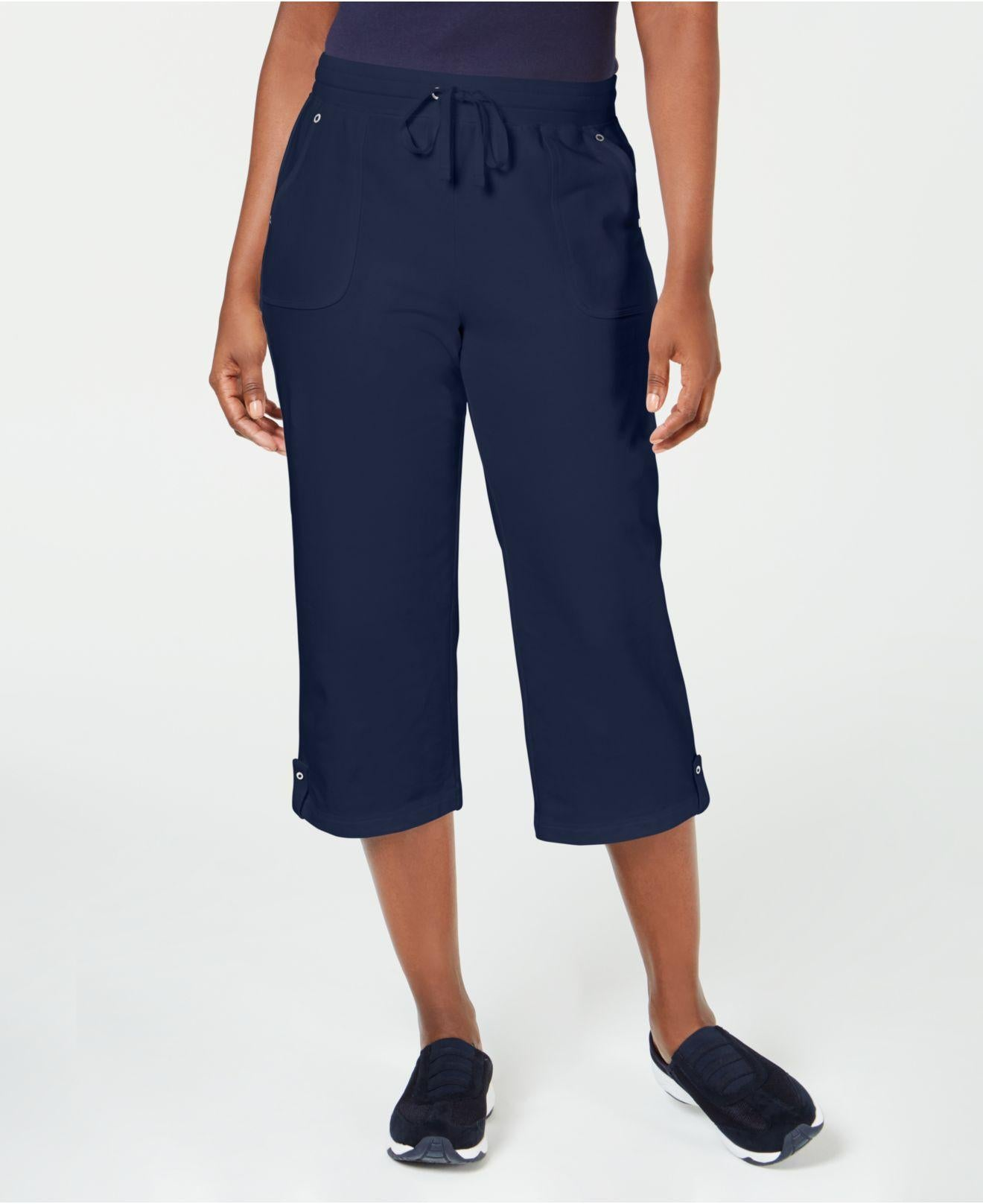 Karen Scott Petite French-Terry Capri Pants