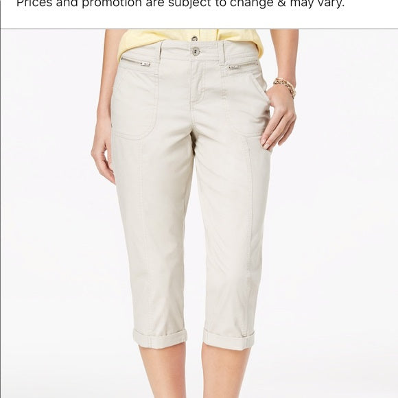 Style & Co Petite Cuffed Capri Pants