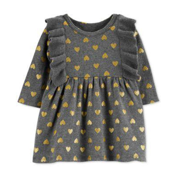 CARTERS Carter's Long Sleeve Dress- Baby Girls