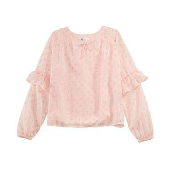 Epic Threads - Pink Dotted Long Sleeve Top
