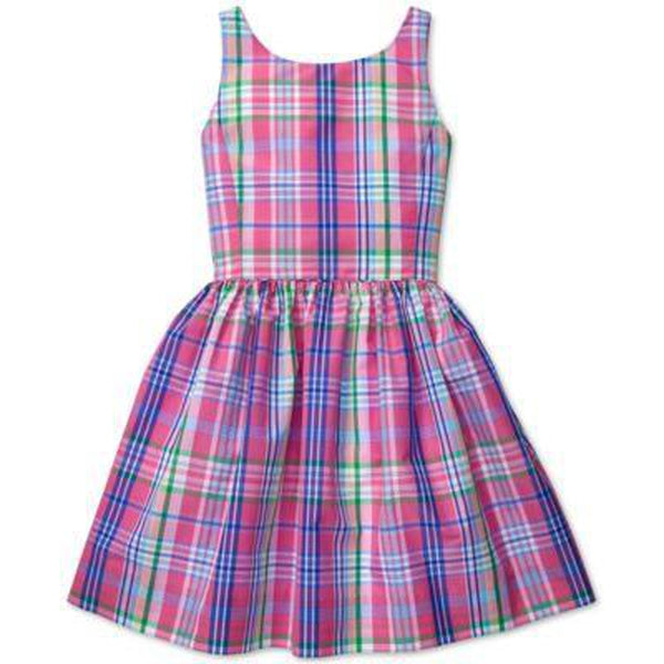 Ralph Lauren Little Girls Classic Plaid Taffeta Fit-And-Flare Dress
