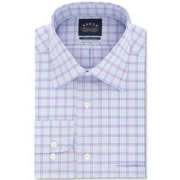 Eagle Men's Dress Non Iron Stretch Collar Regular Fit Shirt