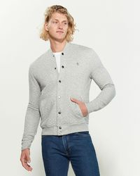 Original Penguin Long Sleeve Quilted Knit Jacket