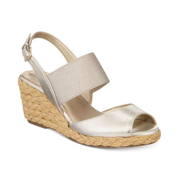 Bandolino Himeka Espadrille Wedge Sandal Light Gold