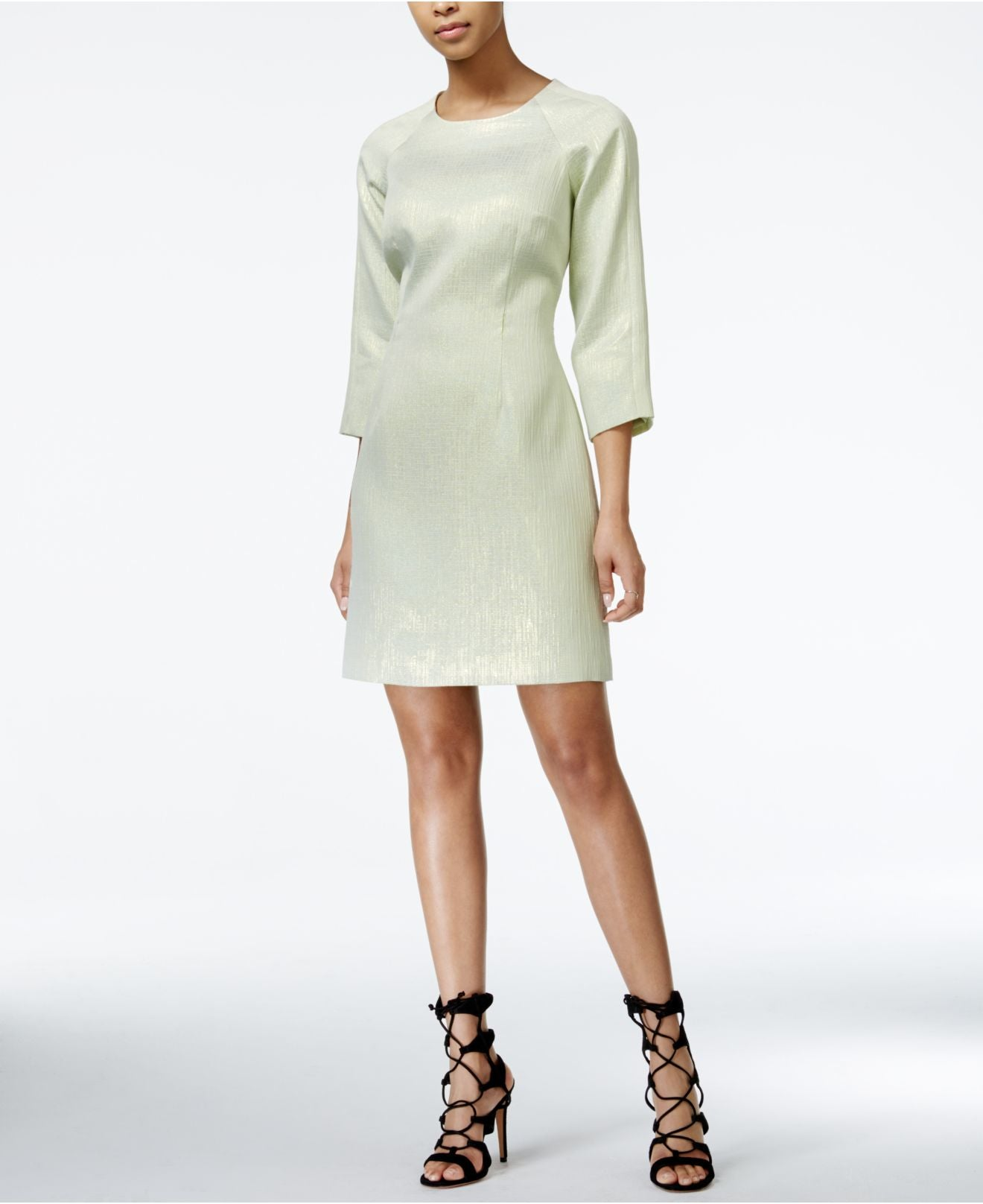 Rachel Roy Metallic Mint Sheath Dress
