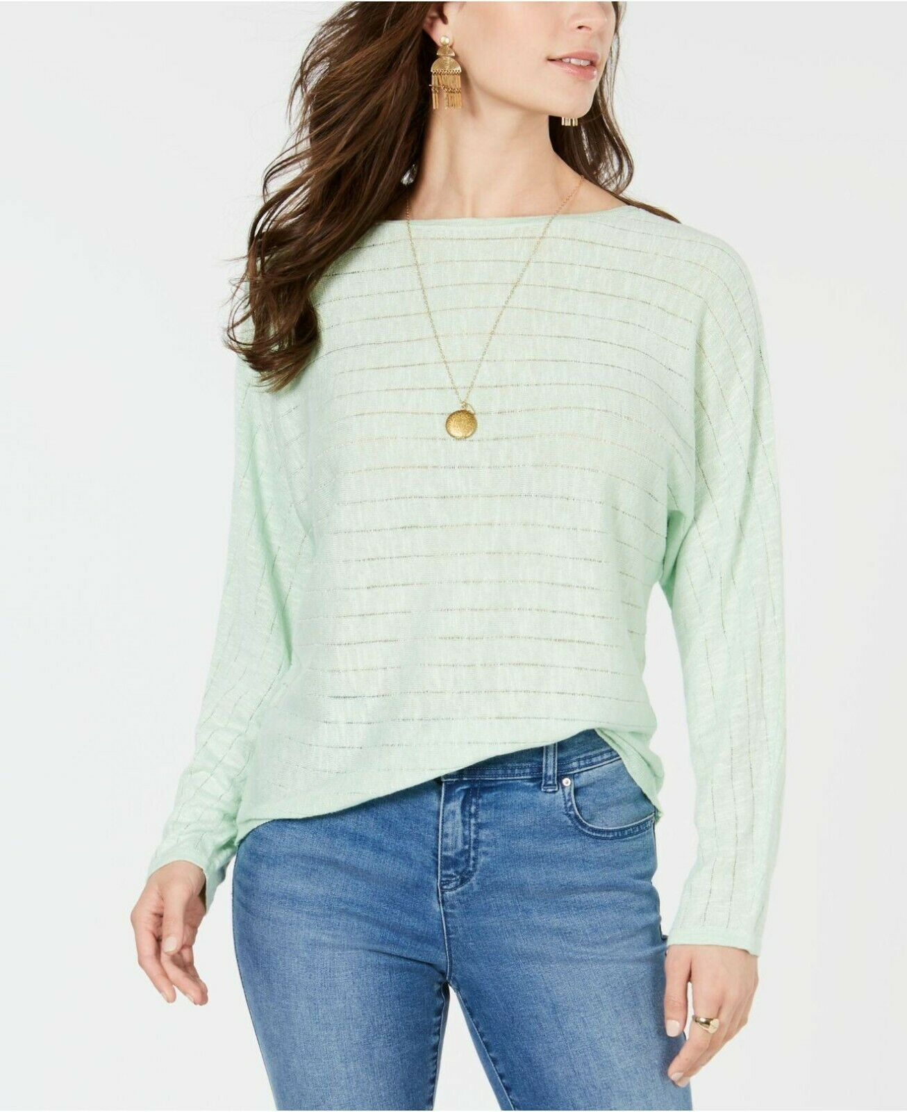 Style & Co Boat-Neck Dolman-Sleeve Sweater