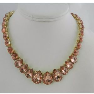 Charter Club Crystal Collar Necklace, 16 Rose Peach