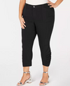 INC Womens Plus Ruched Mid-Rise Cropped Pants