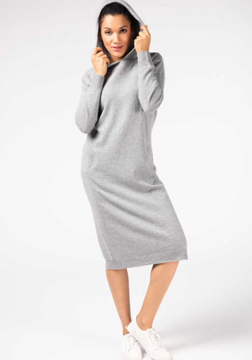 HOODED MIDI DRESS