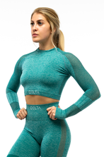 Load image into Gallery viewer, Deluxe Series Long Sleeve Crop Top - DELTA Fitness Apparel