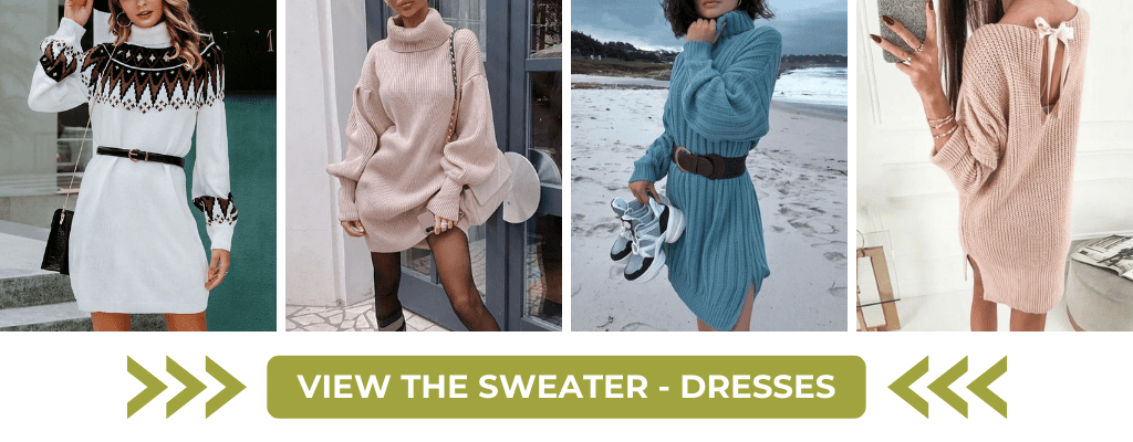 view the boho sweater dresses collection