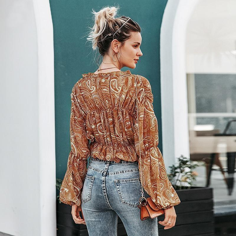 Blouse Hippie Chic Boho - S