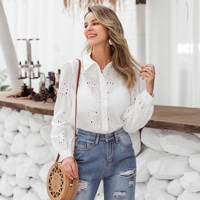 Bohemian White Embroidered Blouse