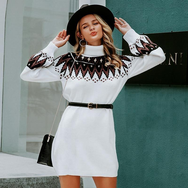 Bohemian Winter Dress - S