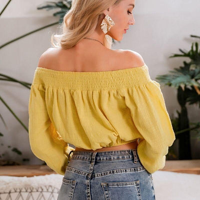 Boho Blouse Off The Shoulder