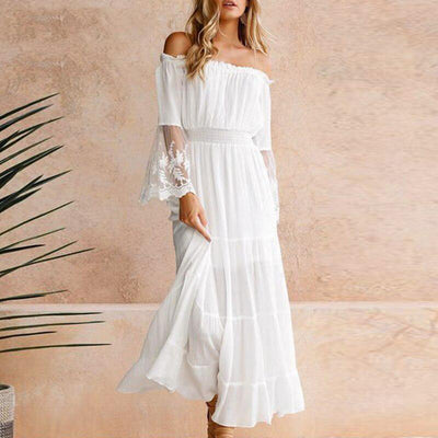 Boho Chic White Maxi Dress